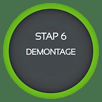 stap 6 demontage sloopadvies werkwijze